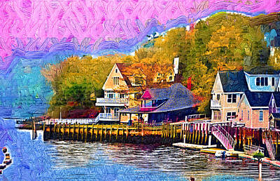 Fishing Village Art Print