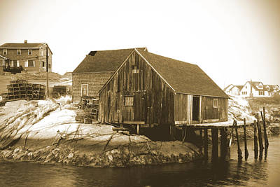 Photograph - Fishing Wharf At Peggy's Cove by Gordon  Grimwade