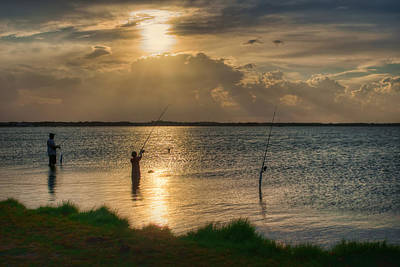 Titusville Photograph - Fishing With Dad by Nikolyn McDonald