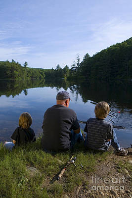 Family Sports Photograph - Fishing With Grandad by Diane Diederich
