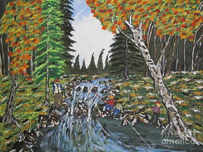 Pap Painting - Fishing With Grandpap by Jeffrey Koss