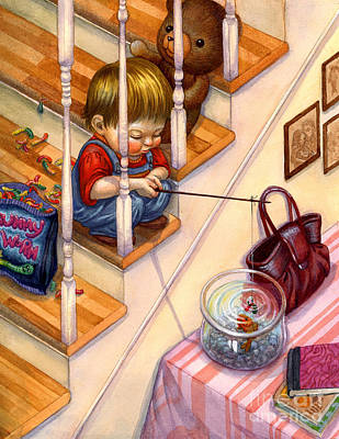 Fishing With Gummies Art Print by Isabella Kung