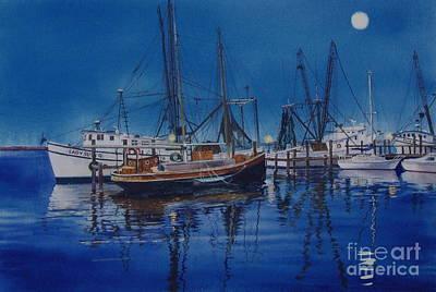 Fishmoon Art Print by Karol Wyckoff