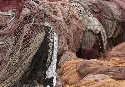 Net Photograph - Fishnets by Frank Tschakert