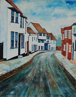 Fishpool Street - St Albans - Winter Scene Art Print by Giovanni Caputo