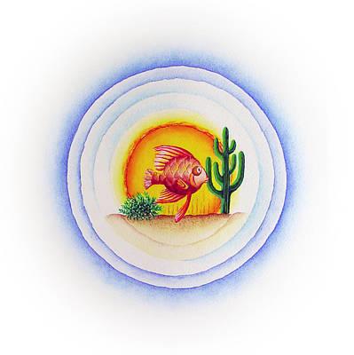 Painting - FishSalad 3 by Laura Dozor
