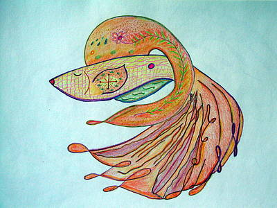 Drawing - Fishstiqueart 2009 by Elmer Baez