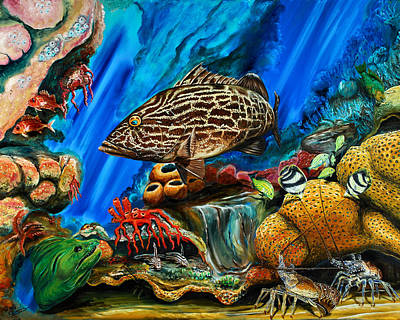 Painting - Fishtank by Steve Ozment