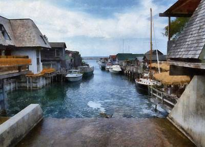Photograph - Fishtown Leland Michigan by Michelle Calkins