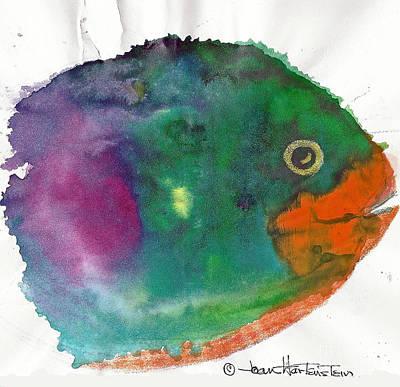 Fishy Art Print by Joan Hartenstein