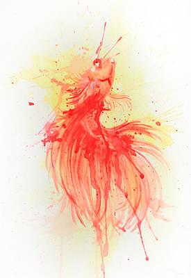 Fishy Art Print by Tess Kamban