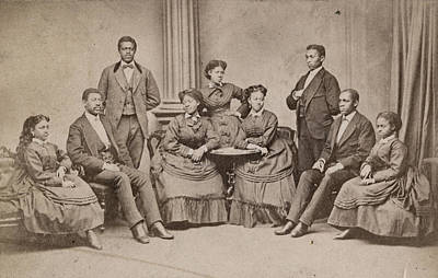 Photograph - Fisk Jubilee Singers, C1880 by Granger