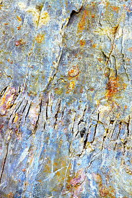 Photograph - Fissured Rock Abstract by Karon Melillo DeVega