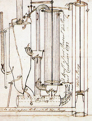 Photograph - Fitch Air Pump And Condenser, 1792 by Science Source