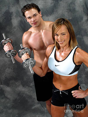Fitness Couple 17-2 Print by Gary Gingrich Galleries