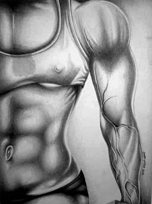 Fitness Model 3 Art Print