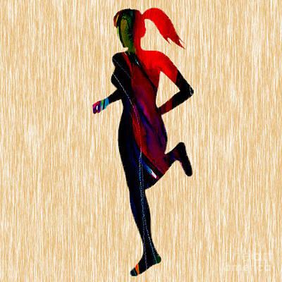 Inspirational Mixed Media - Fitness Runner by Marvin Blaine