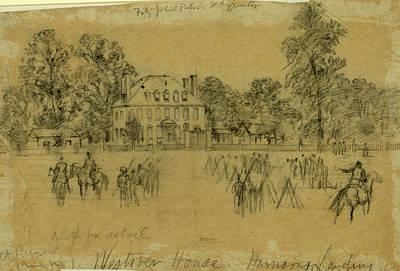 Fitz-john Porters Hdquarters, 1862 July Art Print