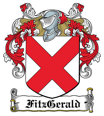 Fitzgerald Coat Of Arms Irish Art Print by Heraldry