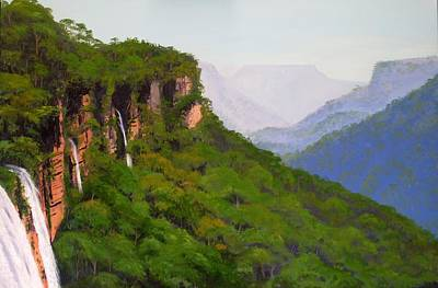 Painting - Fitzroy Falls by Anne Gardner