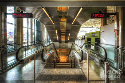 Fiumicino Airport Escalator Art Print by Yhun Suarez