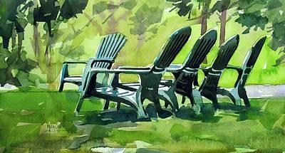 Five Adirondacks Original by Spencer Meagher