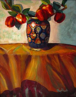 Painting - Five Apples by Pat Heydlauff