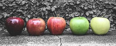 Steven Taylor Photograph - Five Apples  by Steven  Taylor