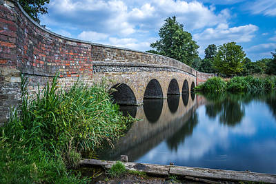 Art Print featuring the photograph Five Arches Bridge. by Gary Gillette