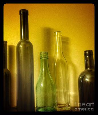 Photograph - Five Empty Bottles  by Susan Garren