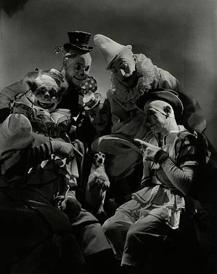 Photograph - Five Circus Clowns by Lusha Nelson