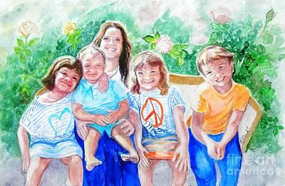 Five Cousins Art Print by Susan  Clark