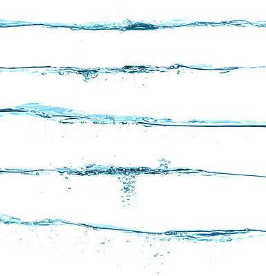 Photograph - Five Different Blue Water Surfaces by Krystiannawrocki