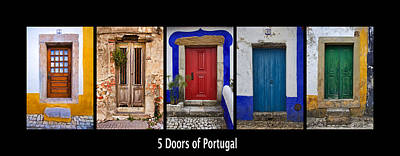 Photograph - Five Doors Of Portugal by David Letts