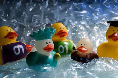 Five Ducks In A Row Art Print
