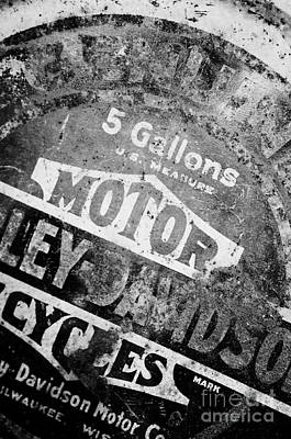 Photograph - Five Gallon Motorcycle Oil Can by Wilma  Birdwell