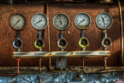 Digital Art - Five Gauges by Nathan Wright