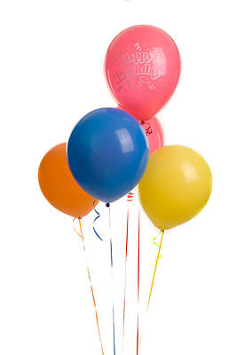Photograph - Five Happy Birthday Ballons by Marek Poplawski