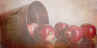 Apple Photograph - Five In A Row by Heidi Smith