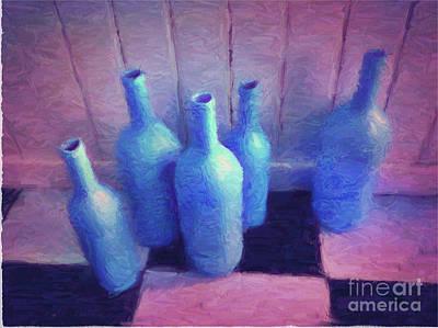 Five In Blue Art Print by Putterhug  Studio
