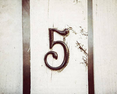Number 5 Photograph - Five by Lisa Russo