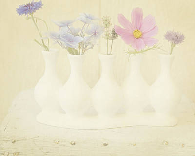 Five Little Bouquets Art Print by Bonnie Bruno