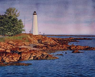 Five Mile Point Lighthouse Art Print by Sharon Farber