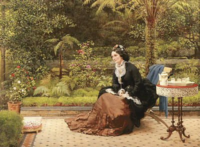 Paving Painting - Five Oclock by George Dunlop Leslie