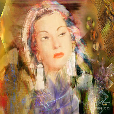 Digital Art - Five Octaves - Tribute To Yma Sumac - Square Version by John Beck