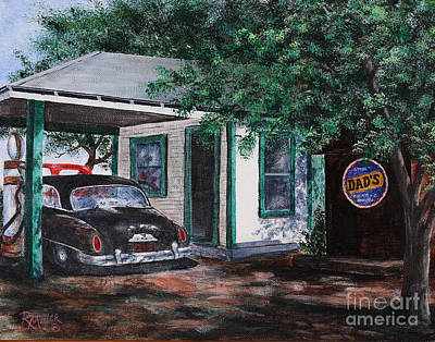 Desoto Car Painting - Five Points Ohio Gas Station by Rita Miller
