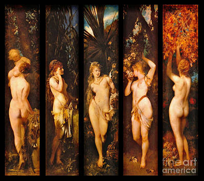 Five Senses 1872 Art Print