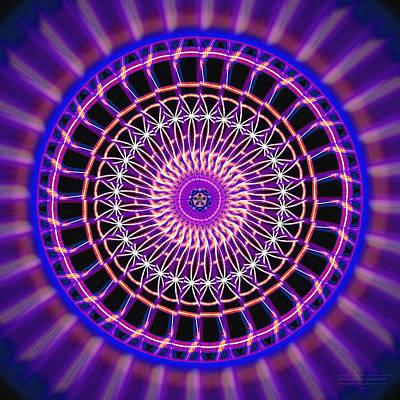 Drawing - Five Star Gateway Kaleidoscope by Derek Gedney