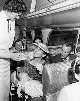 "Woman And Baby Photograph - ""five Star"" Luxury Bus Service by Underwood Archives"
