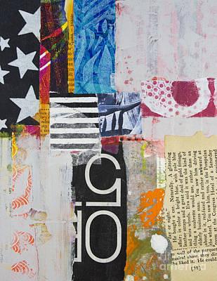 Painted Mixed Media - Five Stars by Elena Nosyreva